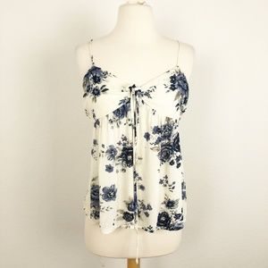 American Eagle Floral Tank Top Size M